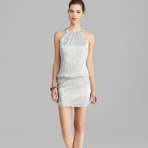LAUNDRY BY SHELLY SIGEL - SILVER COKTAIL DRESS